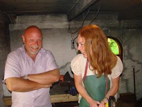 Photo: Steen B. Andersen og Laura Hay i smedien
