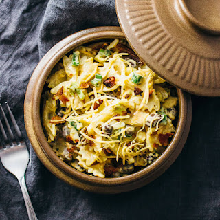 Favorite Mexican pasta salad with crispy bacon.