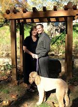 Photo: Old Mill Garden - Falls Park - Greenville, SC 11/09 -  Hannah (pup) was their maid of honor!  ~ www.WeddingWoman.net ~