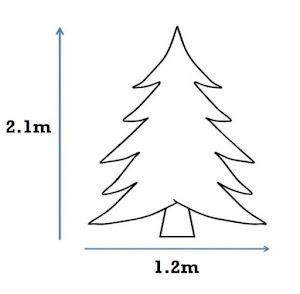 Brad verde artificial Premium - Inaltime 2.1 metri,  991 crengute