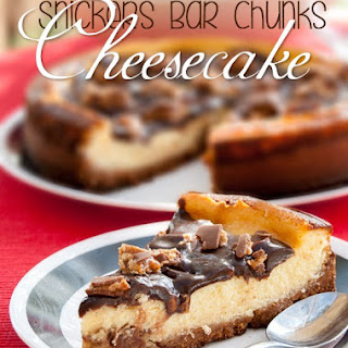 Snickers Bar Chunks Cheesecake
