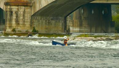 Photo: la rapida sotto il ponte ferroviario