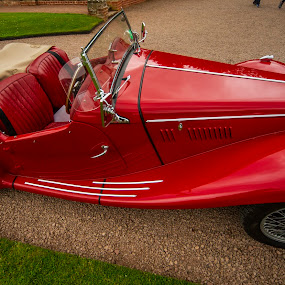 Red classic by Yordan Mihov - Transportation Automobiles ( red, england, classic, car, old, retro )