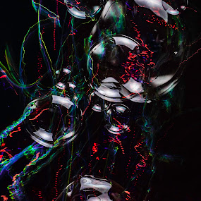 color flow by Duane Vosika - Abstract Light Painting ( color, bubble, light, light trails, bubbles, long exposure, water, soap, flash )