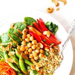 Thai Peanut Healthy Vegan Buddha Bowl