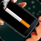 Cigarette in phone icon