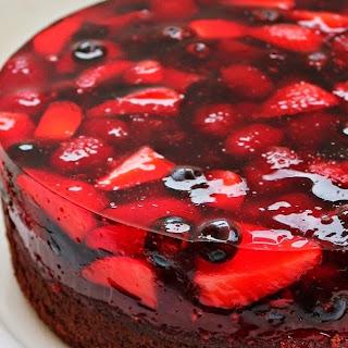 Chocolate Berry Jello Cake