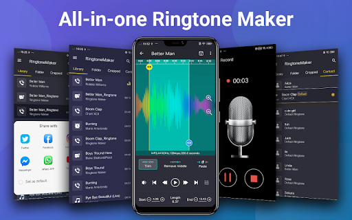 Ringtone Maker - Mp3 Editor & Music Cutter screenshots 1
