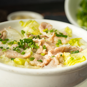 Pork with Lettuce Congee