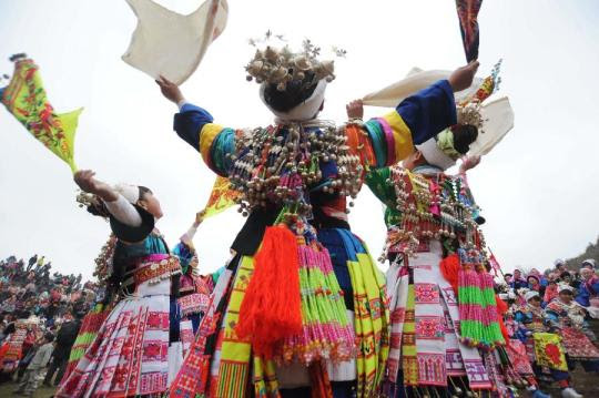 Miao ethnic group prays for harvest and happiness in new year in China's Guizhou