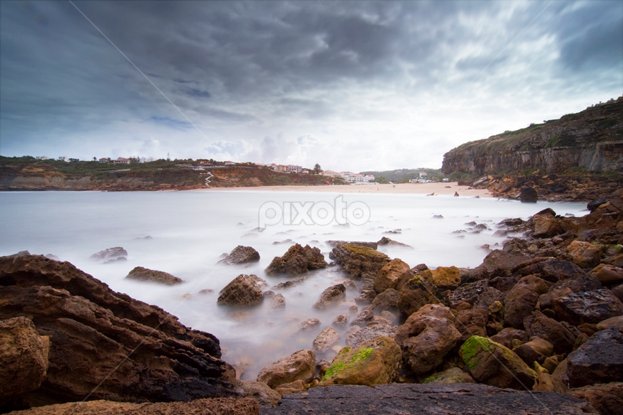 The Other Side by Nuno Martins - Landscapes Beaches ( ericeira, beach, sea, long exposure, clouds, rocks )