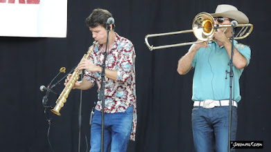 Photo: Puerta Candelaria's brass section