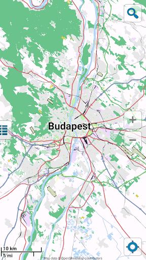 Map of Budapest offline