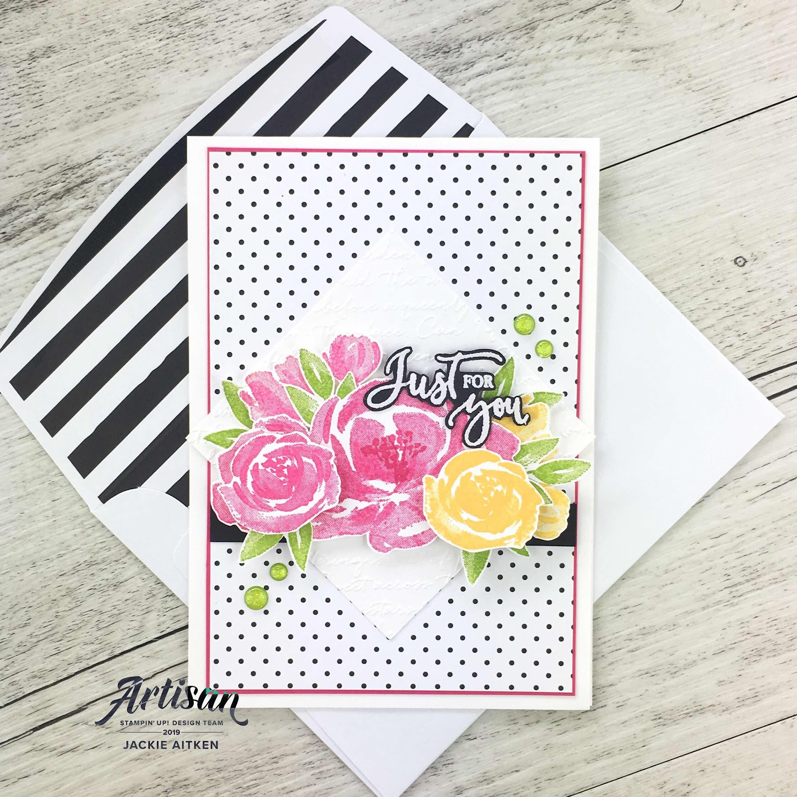Beautiful Friendship, Rare Blessings, Scripty Embossing Folder, Just Add Ink Challenge, Sketch Challenge, Floral Card, Stampin Up, Jaxx Crafty Creations, Artisan Design Team