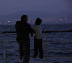 Photo: Day 126 - Father & Son on Trip Back to Istanbul (Istanbul Coastline in Background)