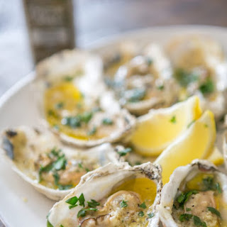 Grilled Butter Garlic Oysters.