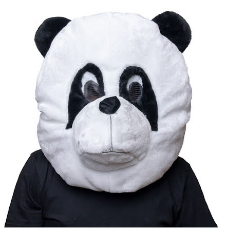 Maskothuvud, panda