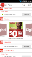 Screenshot of MyDigicel App