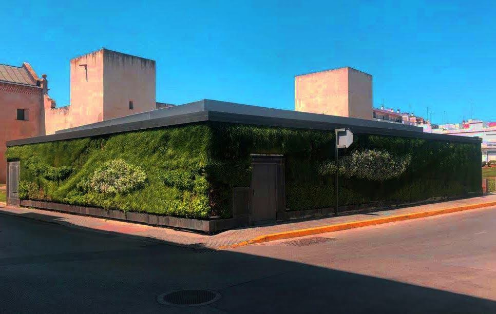 Jardín de sistema LeafSkin instalado en San Fernando de Cádiz