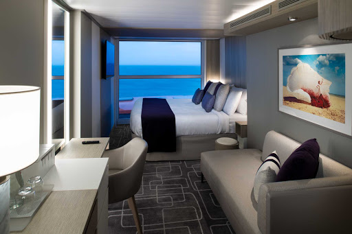 A Panoramic Oceanview stateroom on Celebrity Edge comes in at 212 square feet and can hold up to four people.