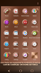 Shiny Copper Theme for Xperia APK screenshot thumbnail 5