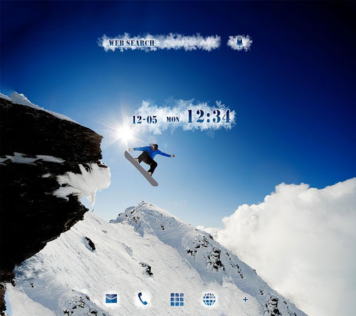 snowboarder Wallpaper Snow&Sky 1.0.0 Windows u7528 1