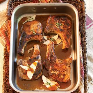 Cider-Brined Pork Chops.