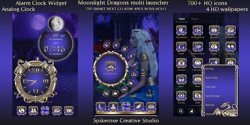 Download Moonlight Dragons TSF Next Smart Go multi Launcher MOD APK 2