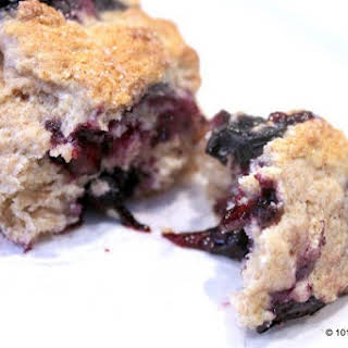 Low Fat Whole Wheat Blueberry Scones.