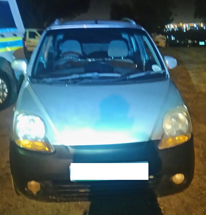 The car that was spotted by the police helicopter parked in Korsten