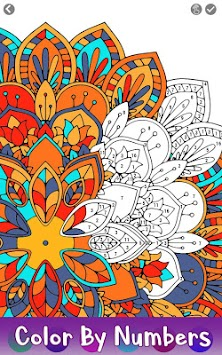 Mandala Color By Number Adult Coloring Paint Book Poster