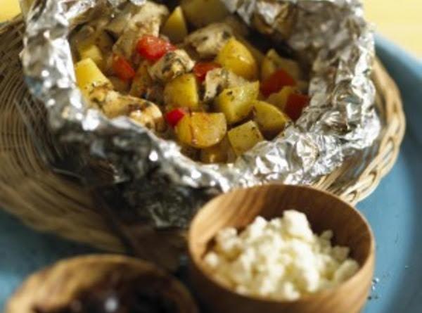 Greek Chicken & Potato Packets Recipe