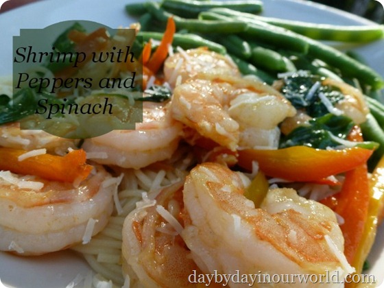 Shrimp with Peppers and Spinach Recipe
