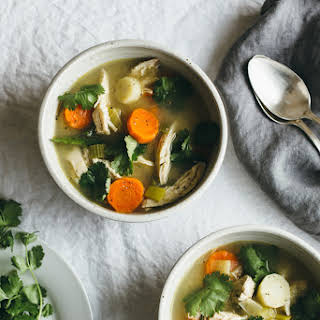 Chicken and Winter Vegetable Soup.