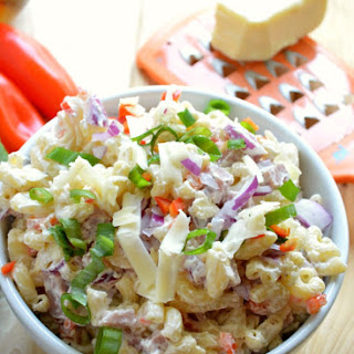 Creamy Ham and Cheddar Pasta Salad