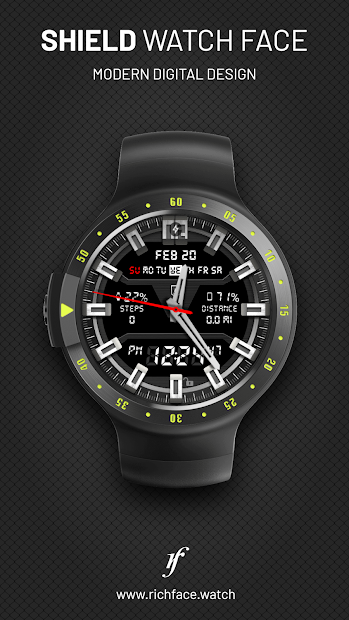 Shield Watch Face Android App Screenshot
