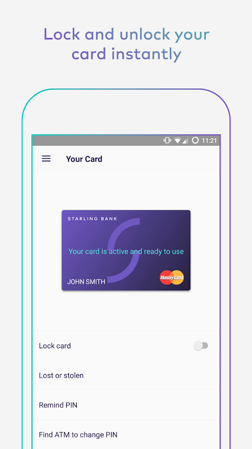 Starling Bank- screenshot