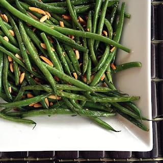 Browned Butter Green Bean Amandine.