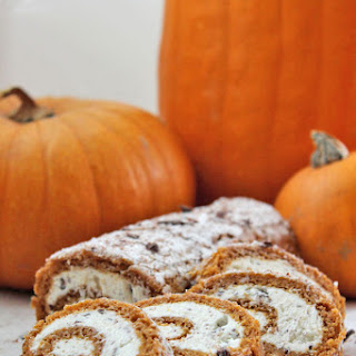 Stracciatella Cream Cheese Pumpkin Roll