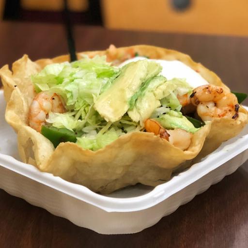 Seafood Taco Salad
