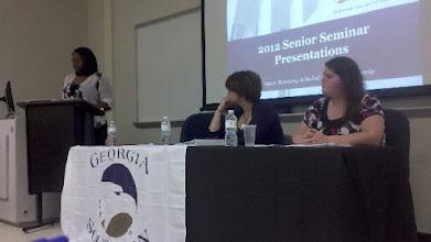 Photo: Senior Seminar Presentations, Spring 2012