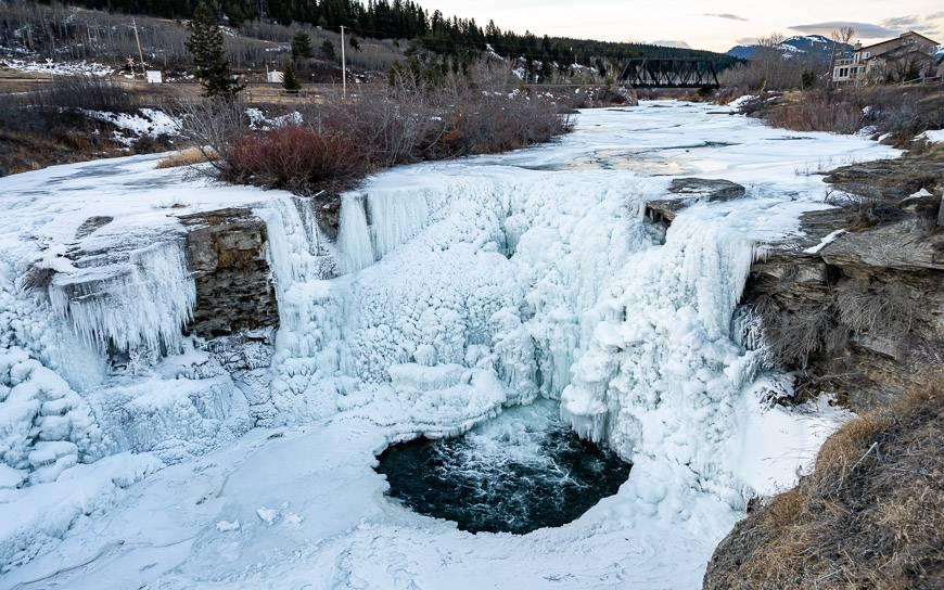 Lundbreck Falls is beautiful in any season