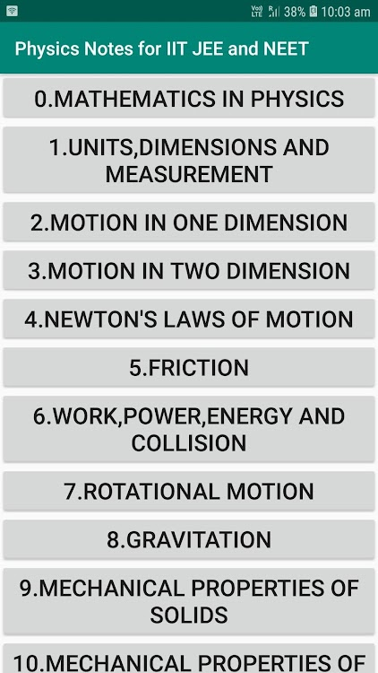 Physics Notes for IIT JEE and NEET – (Android Apps) — AppAgg