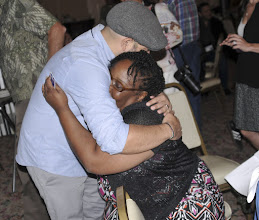 Photo: And another hug--she deserves many more hugs than we had time to give her