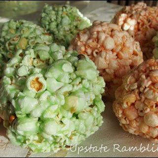 Red and Green Popcorn Ball