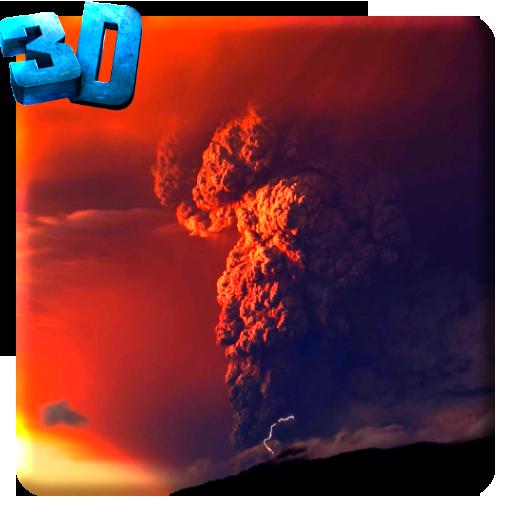 个人化の火山噴火のビデオLWP LOGO-記事Game