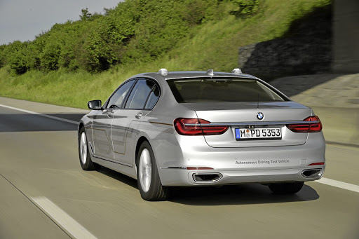 BMW is using a fleet of 40 7 Series models to test its autonomous tech.  Picture: BMW