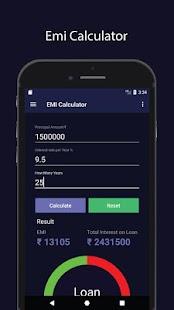 EMI Calculator - Advanced - náhled