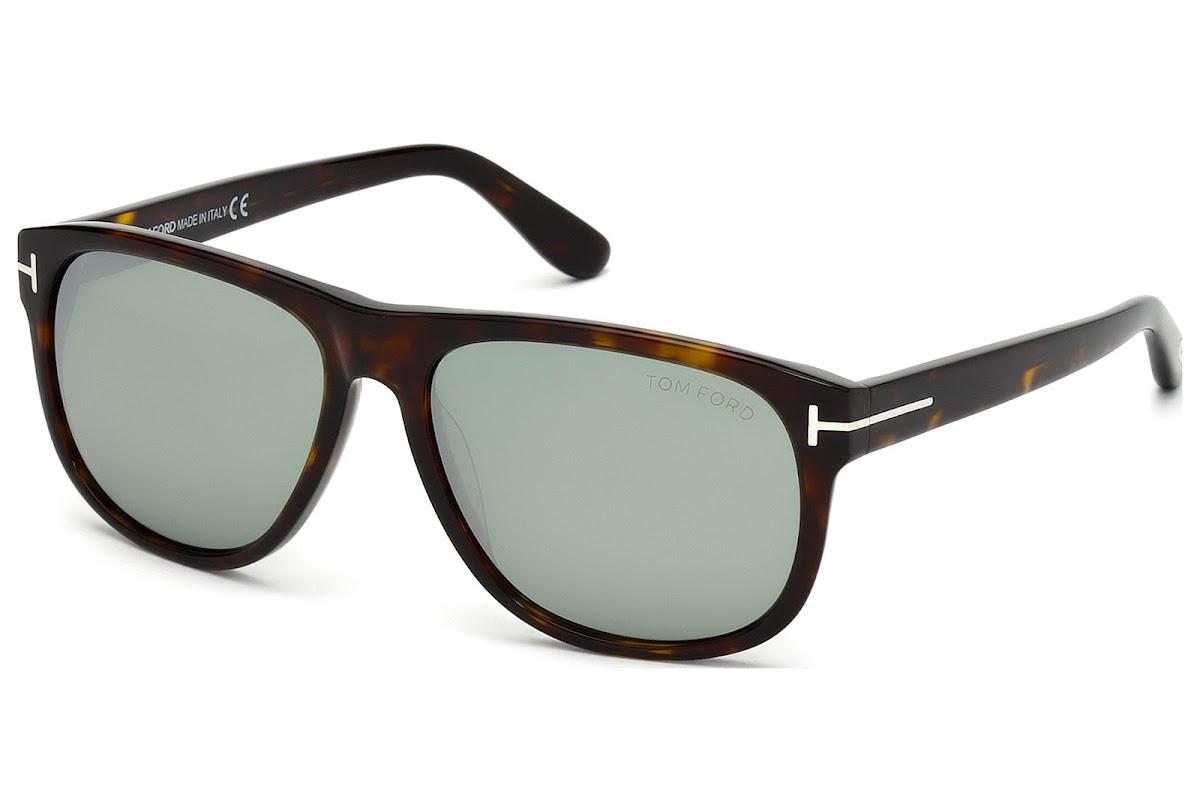 18e39eea86 Buy Tom Ford Olivier FT0236 C58 52Q (dark havana   green mirror) Sunglasses