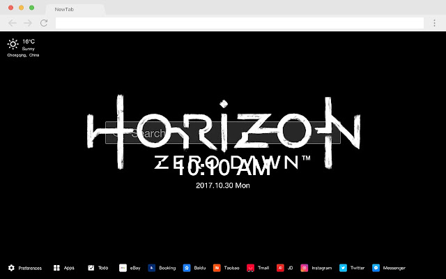 Horizon: Zero Dawn HD Games New Tabs Theme